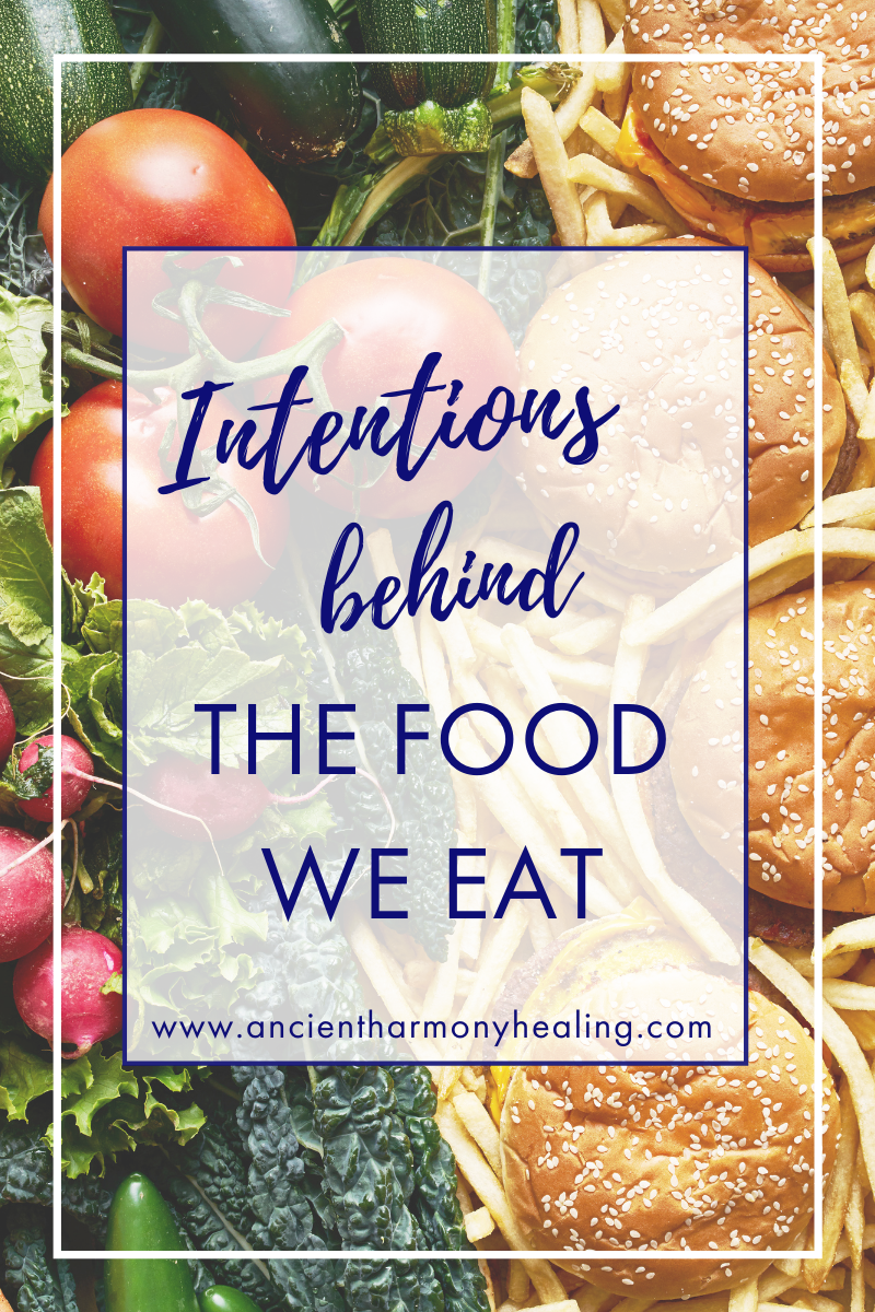 Intentions Behind the Food we Eat