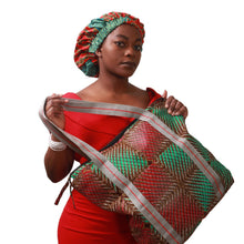 Load image into Gallery viewer, African wax print bag