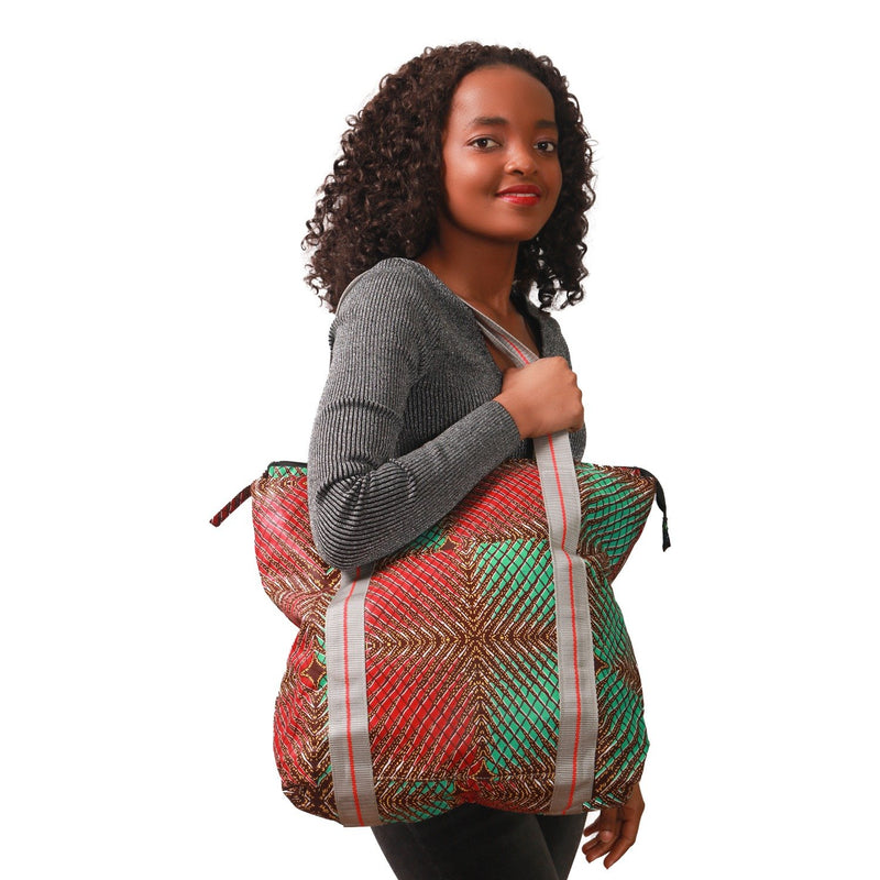 African print Fabric women handbag