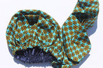 Satin lined African print head wrap