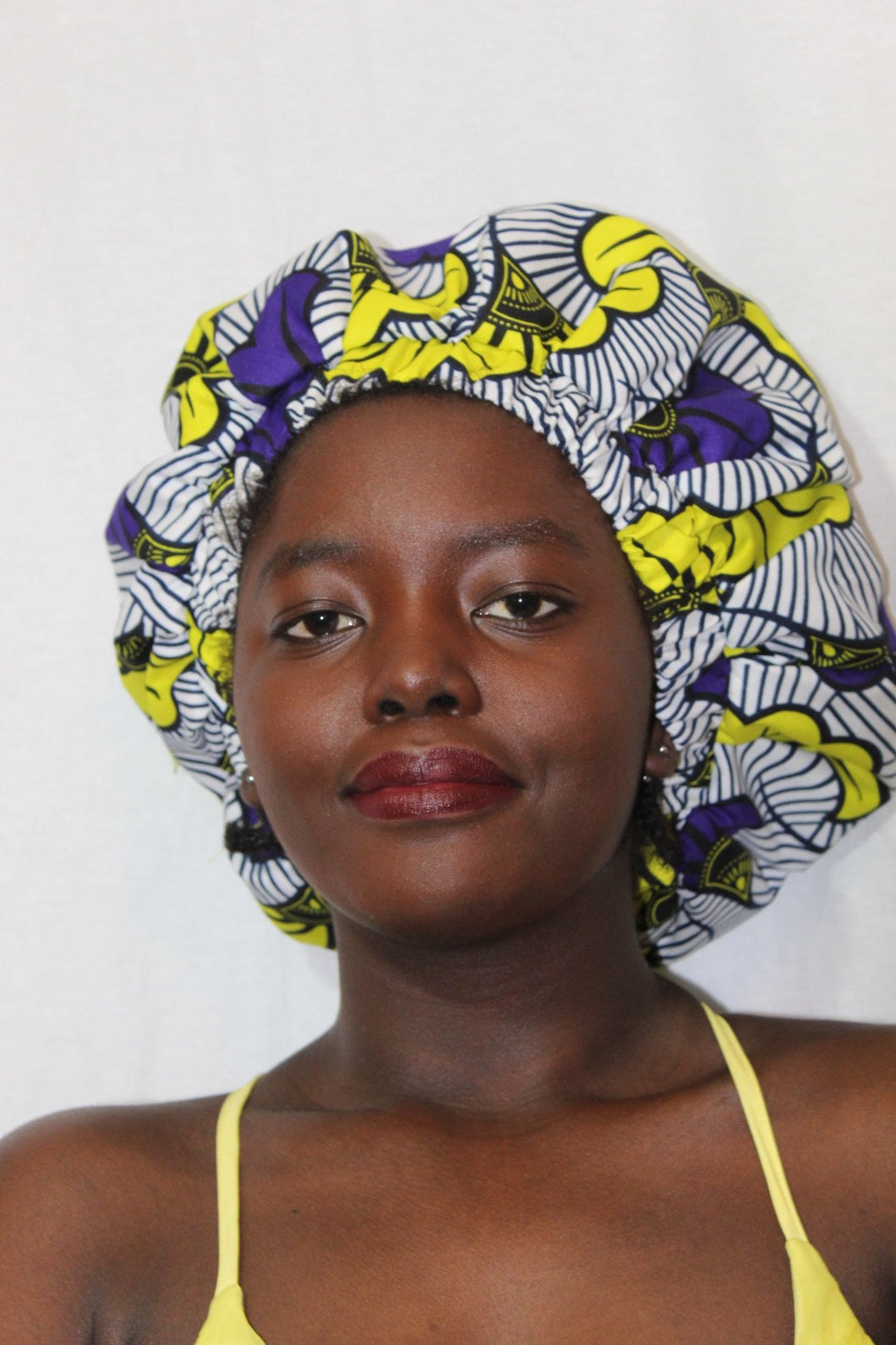 African print  satin lined bonnet