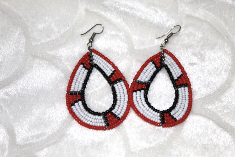 Red Maasai beads earrings
