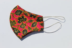 Large size Red Ankara face mask