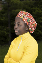 Load image into Gallery viewer, African wax print Kids hair bonnet