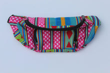 Load image into Gallery viewer, Blueish unisex African print fanny pack