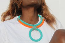 Load image into Gallery viewer, African beaded necklace