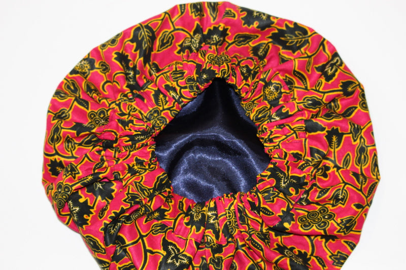 African print Silk satin hair bonnet