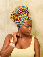 Combined satin lined head wrap