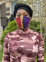 Reusable fabric mask with filter
