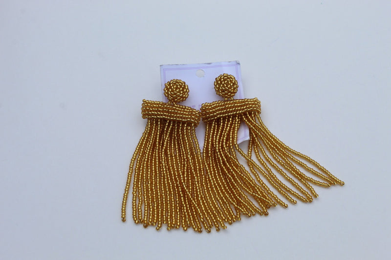 Gold  African beaded earrings