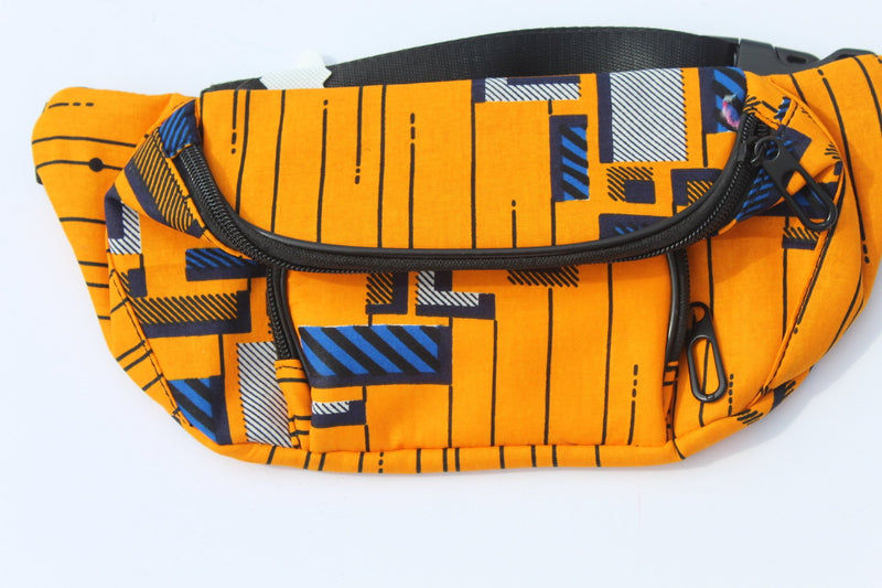 Orange-blue Summer fanny pack/waist big