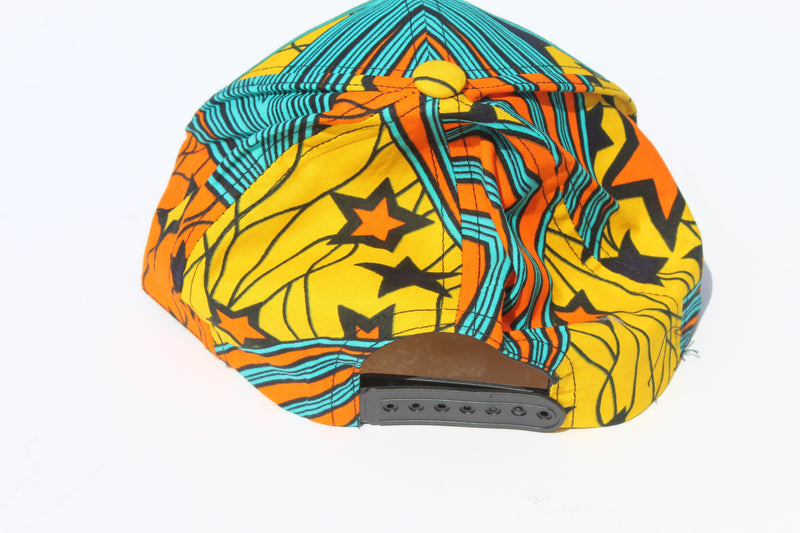 Yellow-blue unisex baseball/sun hat