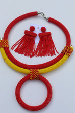 Load image into Gallery viewer, Red posh African earrings