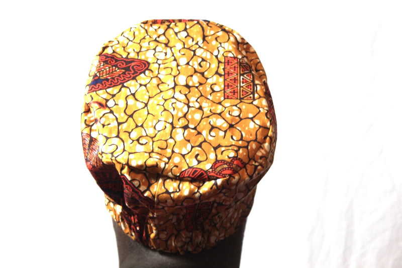 Brown Fabric surgical/scrub cap/work hat