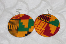 Load image into Gallery viewer, Colourful kitenge everyday earrings