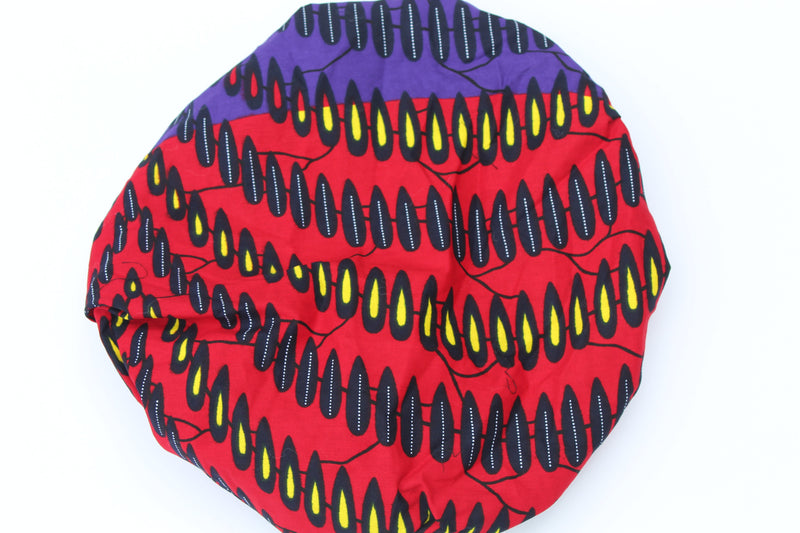 African print red-purple bonnet