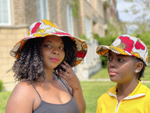 Load image into Gallery viewer, African print beach hats