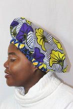 Load image into Gallery viewer, African print  satin lined bonnet