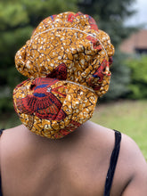 Load image into Gallery viewer, Brown African print large size fabric mask