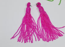 Load image into Gallery viewer, Long beaded earrings