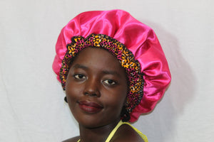 Pink Fabric bonnet