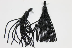 Long beaded earrings