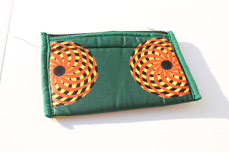 African wax fabric coin wallets for women