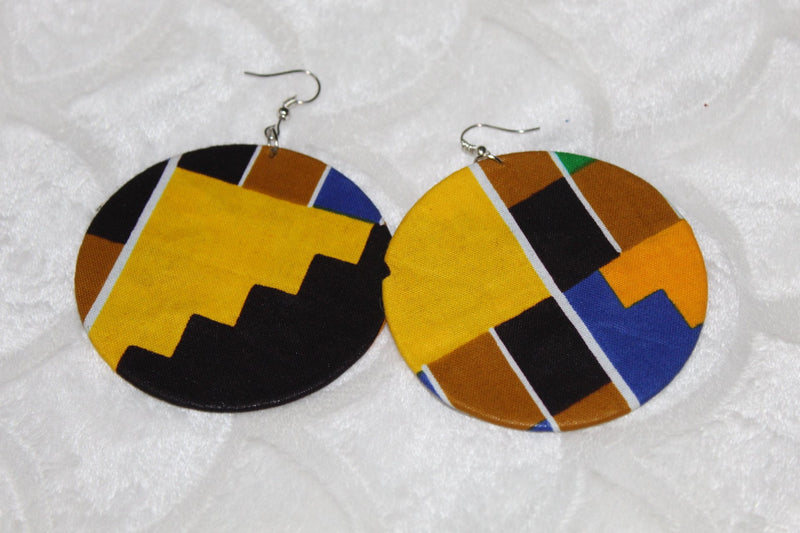 Indy Ankara fashion hoop earrings