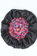 Load image into Gallery viewer, African print Purple sleeping hair bonnet