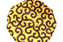 Load image into Gallery viewer, Yellow kitenge hair bonnet
