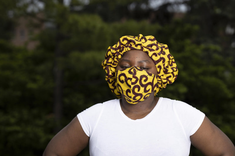 Yellow Large size reusable mask