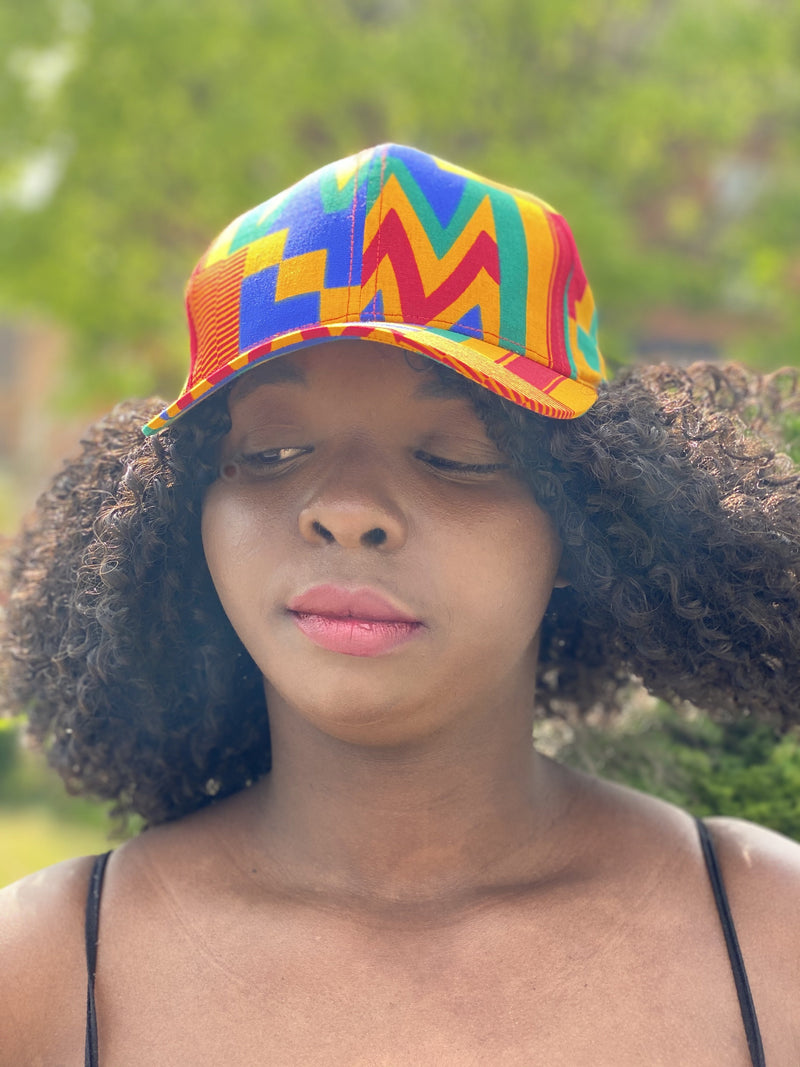 Orange like Afrocentric sporty hat