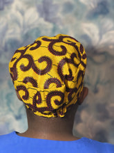 Load image into Gallery viewer, Yellow Doctor/Nurse/Chefs African print cap/hat