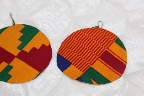 All season large African earrings