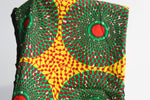 Green African print scarf