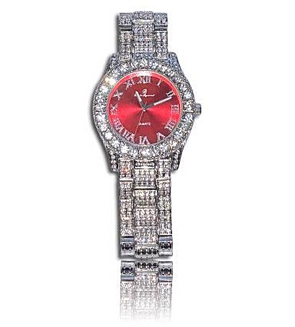 RED DIAMOND ICED OUT WATCH