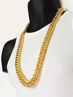24K GOLD HEAVY MIAMI CUBAN LINK CHAIN