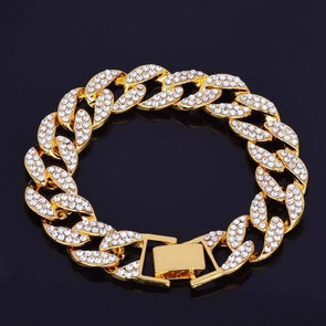 15mm 18K Gold Iced Miami Limited Bracelet