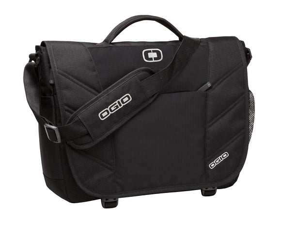 OGIO® Upton Messenger in Black.  417015