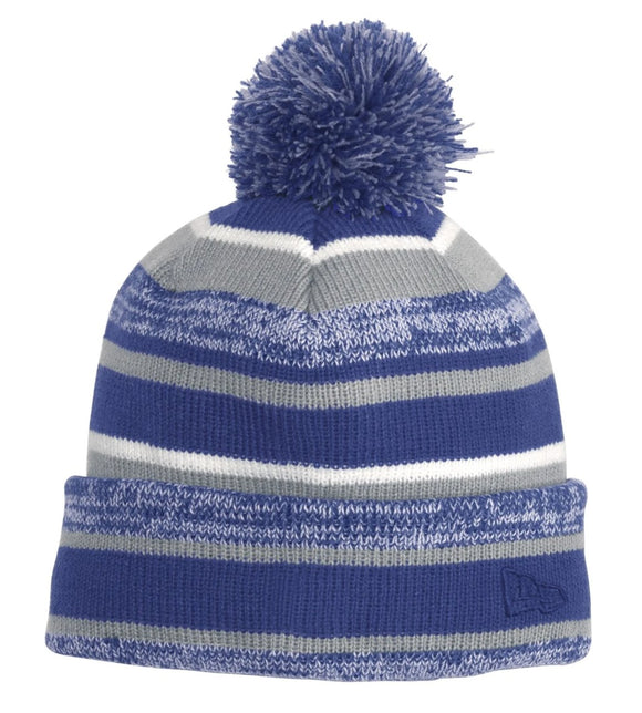New Era® Sideline Beanie in Royal/Grey   NE902