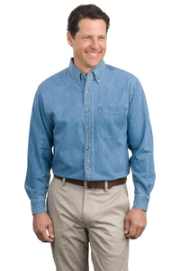 Port Authority® Long Sleeve Denim Shirt in Faded Denim    S600