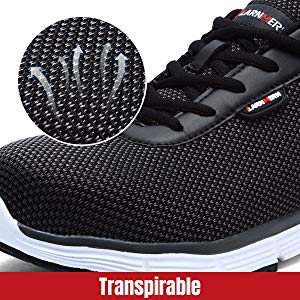 Larnmern Zapatos de Seguridad Transpirables
