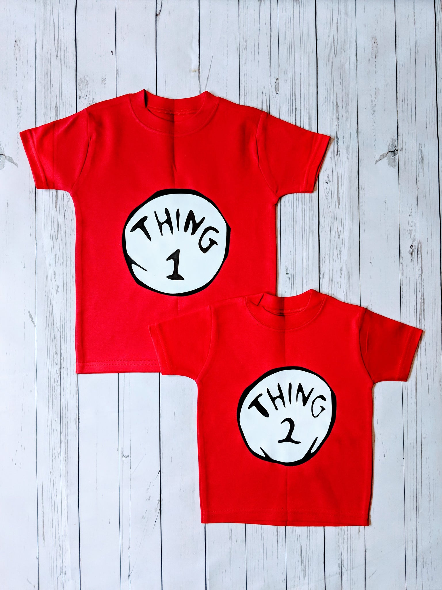 Dr Seuss Thing 1 & Thing 2
