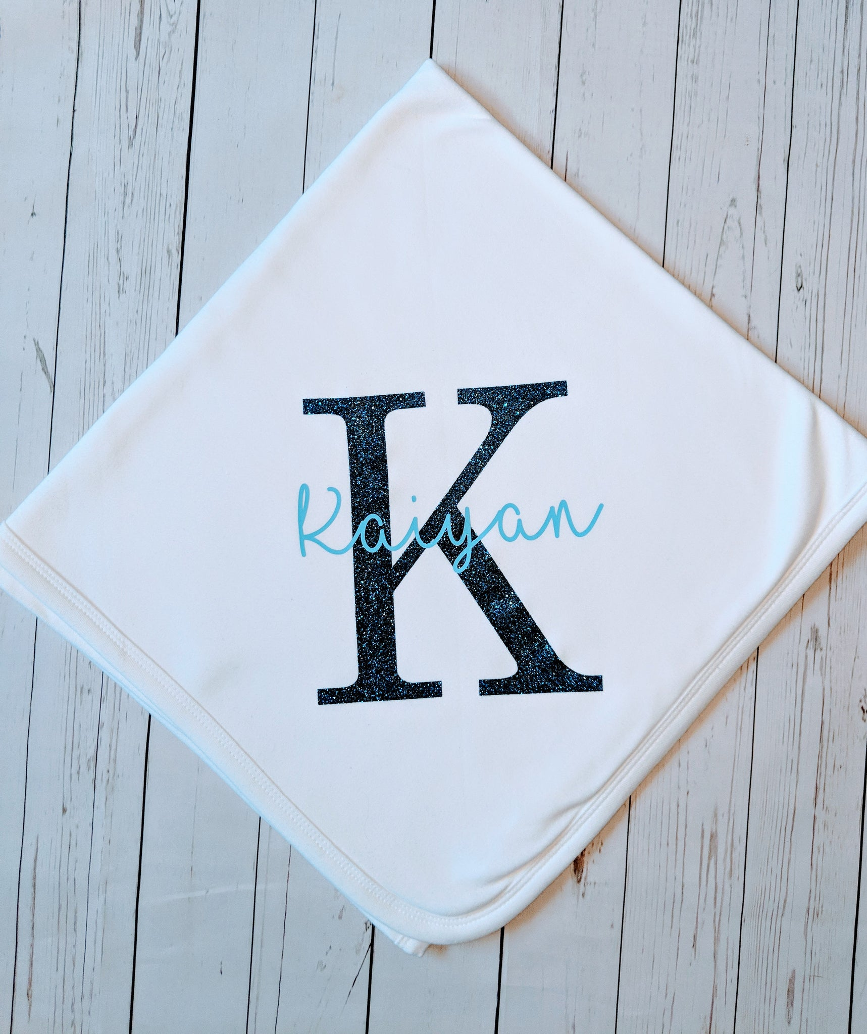 Signature name & Initial Baby Blanket