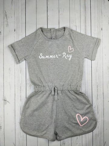 Custom name & Heart Playsuit