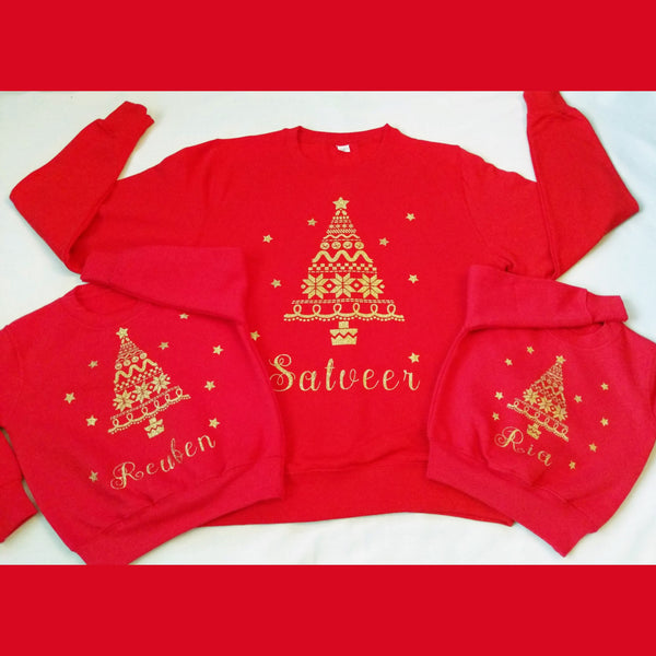 Custom Christmas Tree Sweatshirt