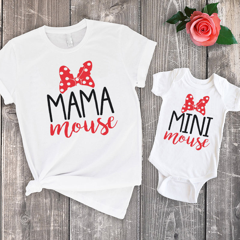Mama & Mini Mouse Family Set