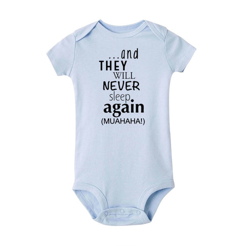 Never Sleep Again Babygrow