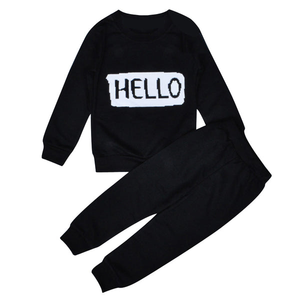 """Hello"" and ""Bye"" Tracksuit Set"