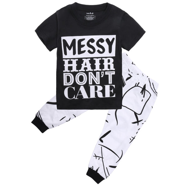"""Messy Hair Don't Care"" 2pc Set"